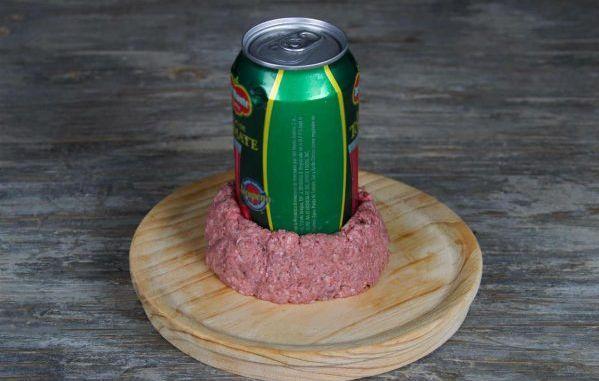 Чизбургер с беконом и грибами